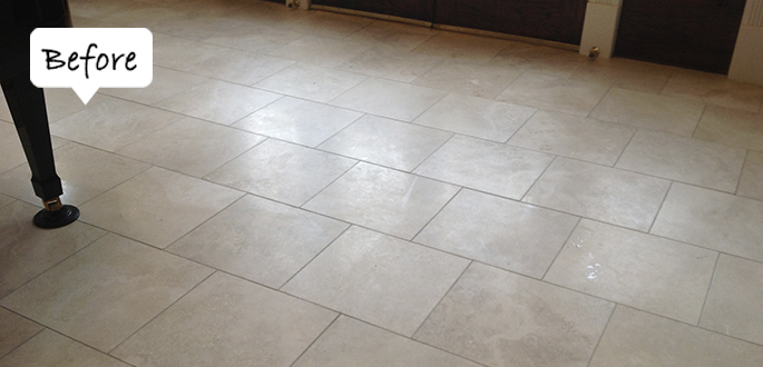 Sir Grout Tampa Travertine Before Honing and Polishing