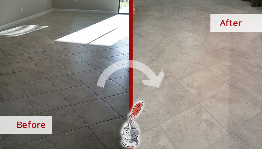 Look How This Tile Floor Recovered Its Amazing Appearance After A