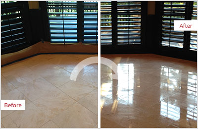Sir Grout Tampa Tan Marble Stone Honing and Polishing
