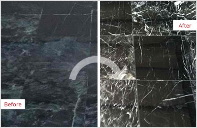 Sir Grout Tampa Black Marble Stone Honing and Polishing
