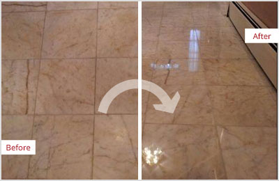 Sir Grout Tampa Tan Marble Hone and Polish